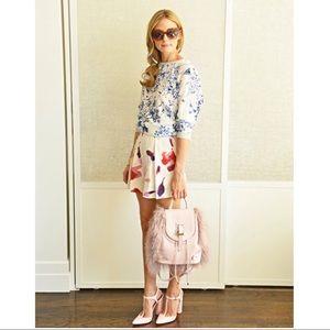 Zara Fashion Floral Pleated Flare Hot Shorts